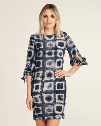Les Copains Graphic Printed Silk Shift Dress