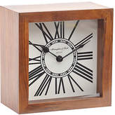 Libra Wood Mini Mortimer Clock, Brown