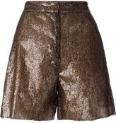 MM6 MAISON MARGIELA sequin shorts - women - Polyester/Viscose - 40