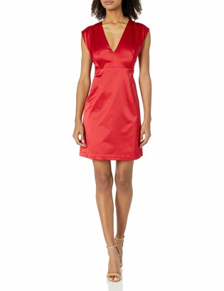 Paris Sunday Women's Cap Sleeve Sateen Sheath Dress