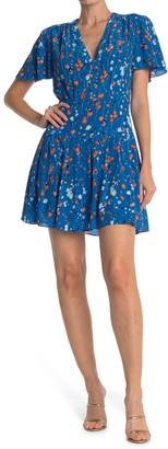 Equipment Lisle Floral Silk Mini Dress