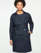 ELOQUII Studio Denim Trench Coat