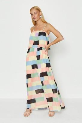 Coast Layered Pleated Maxi Dress