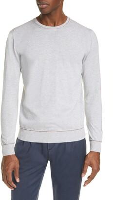 Eleventy Crew Neck Contrast Slim Sweater