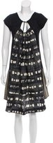 Hache Contrasted Knee-Length Dress w/ Tags