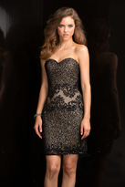 Scala 48678 Short Fitted Cocktail Dress