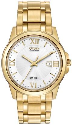 Citizen Men's Eco-Drive 3-Hand Bracelet Watch, 40mm