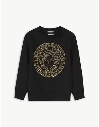 Versace Logo print cotton sweatshirt 4-14 years