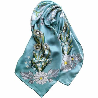 Ylgg Silk large square scarf silk scarf women's scarf handmade mulberry silk 100% 90 * 90cm (35.4 * 35.4in)