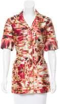 Oscar de la Renta Silk-Blend Printed Jacket