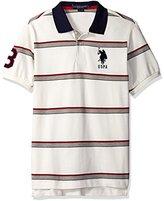 U.S. Polo Assn. Men's Shadow Striped Pique Polo Shirt