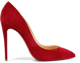 Christian Louboutin Pigalle Follies 100 Suede Pumps - Red