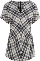 Rachel Comey Ivory & Navy Plaid Rapture Top