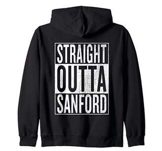 IDEA Straight Outta Sanford Great Travel Outfit & Gift Zip Hoodie