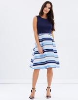 Dorothy Perkins Scuba Stripe Skirt Prom Dress