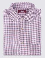 Marks and Spencer Pure Cotton Twill Gingham Shirt