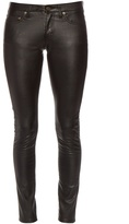 Saint Laurent Low-rise skinny faux-leather trousers