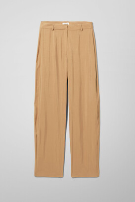 Weekday Hazel Trousers - Beige