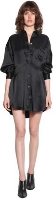 Unravel Satin Shirt Dress