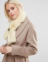 Alice Hannah Gem Cross-Over Faux Fur Scarf