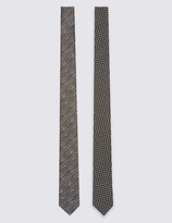 Limited Edition 2 Pack Skinny Fit Geometric Tie