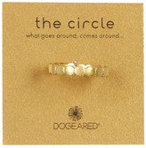 Dogeared 14K Gold Plated Sterling Silver The Circle Ring