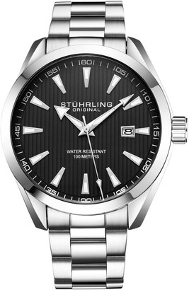 Stuhrling Original Men's Forte Black Dial Watch