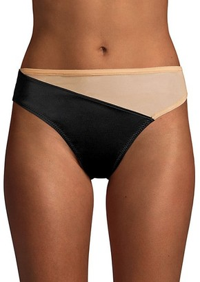 Norma Kamali Snake Mesh Bikini Bottom