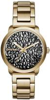 Diesel Flare Rocks Stone Dial Gold Tone Bracelet Ladies Watch