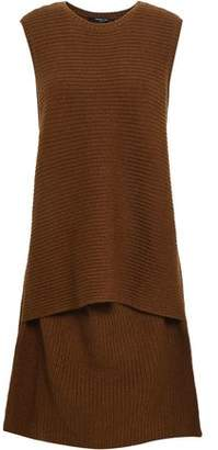 Derek Lam Layered Ribbed Cashmere Dress