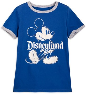 Disney Mickey Mouse Classic Ringer T-Shirt for Kids Disneyland Wishes Come True Blue
