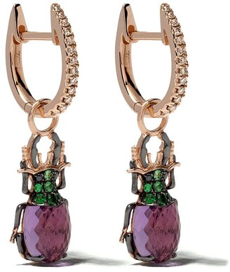 Annoushka 18kt rose gold Mythology beetle earrings
