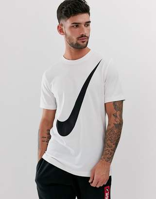 Nike Big Swoosh Logo T-Shirt-White
