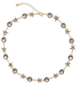 "Rachel Roy Gold-Tone Crystal Star Celestial Collar Necklace, 16"" + 3"" extender"