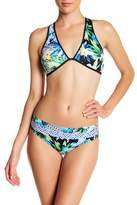 Jets Floral Print Hipster Bikini Bottom
