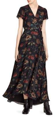 Polo Ralph Lauren Camron Floral Wrap Silk Dress