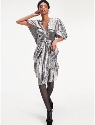 Tommy Hilfiger Zendaya Metallic Silk Blend Dress