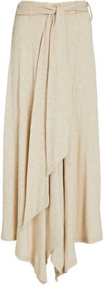 Sabina Musayev Carla Tie-Waist Midi Skirt
