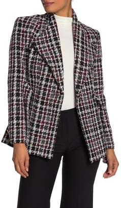 Calvin Klein Self Tie Belt Tweed Jacket
