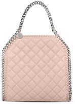 Stella McCartney falabella studded quilted shaggy deer mini tote