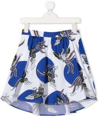 Kenzo Kids Bird Print Skirt