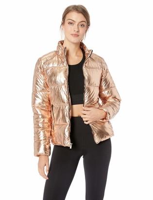 Andrew Marc Women's Metallic Puffer Jacket