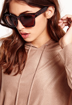 Missguided Oversized Tortoise Shell Sunglasses Brown