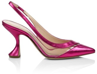 Nicholas Kirkwood Alyssa Metallic Leather Slingback Pumps