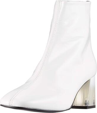 L'Intervalle Women's SOHO X White Naplack Mid Calf Boot 7 UK