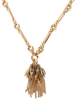 Elizabeth Cole Fringe Crystal Pendant Necklace