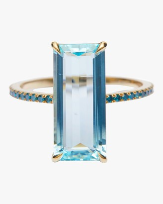 Yi Collection Aquamarine And Blue Diamond Oceans Ring