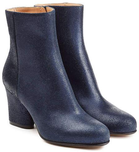 Maison Margiela Coated Leather Ankle Boots