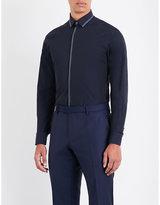 Lanvin Contrast-stitch Slim-fit Cotton Shirt