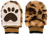 Dolce & Gabbana leopard paw printed gloves